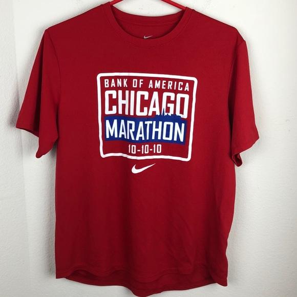 crazy price popular stores official site Nike Chicago Marathon Shirt 10-10-10 Red Medium